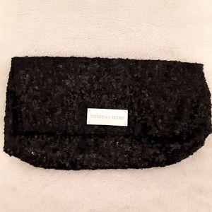 Victoria Secret sequined black clutch